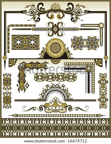 set vector design elements - stock vector