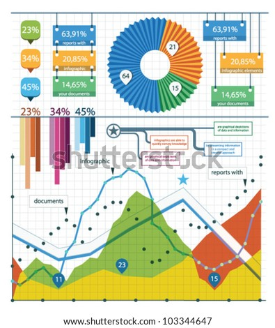 Set vector elements of infographics