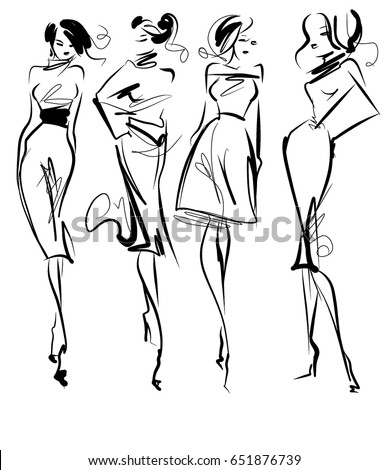 set vector  fashion stylish