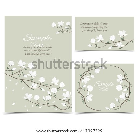 stock-vector-set-vector-illustration-white-flowers-on-the-card-white-spring-magnolia-flowers-branch