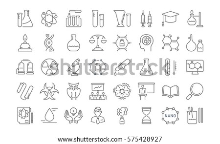 set vector line icons  sign and