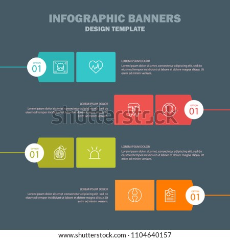 Set vector line icons, sign and symbols in flat design medicine and health with elements for mobile concepts and web apps. Collection modern infographic logo and pictogram.
