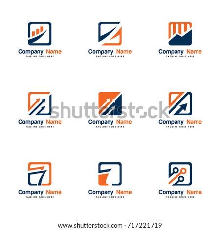 set vector logo finance