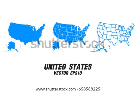 Colorful Vector Map Of The United States Download Free Vector