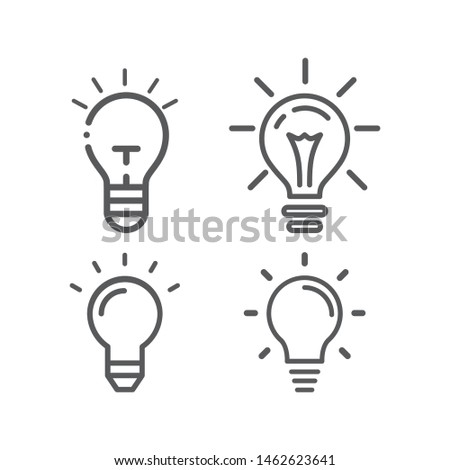 Set vector of Set vector of light bulb icons. Eps10 vector illustration.. Eps10 vector illustration.