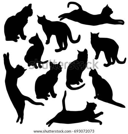 set vector silhouette of the