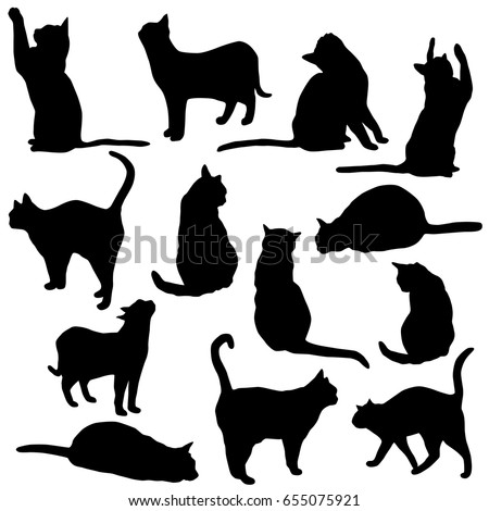 stock-vector-set-vector-silhouette-of-the-cat-different-poses-sits-and-lies-black-color-isolated-on-white