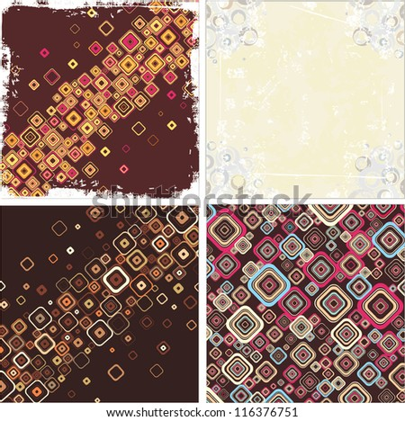 Set vintage backgrounds - stock vector