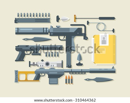 set weapons military and war