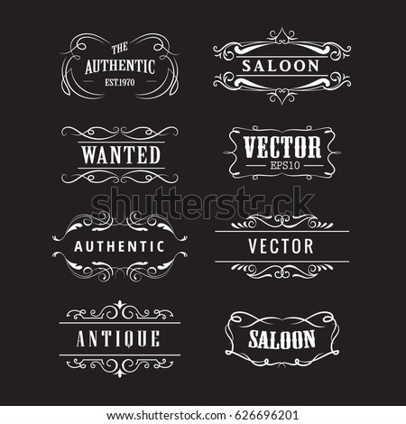 set western badge hand drawn...