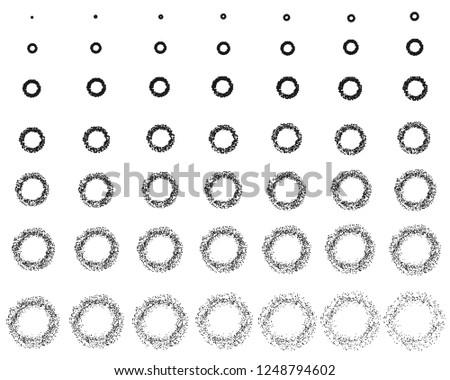 Explosion and fragmentation black circle vector design - Download