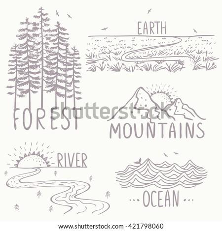 set with beautiful nature