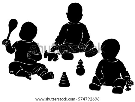 Vector Baby Silhouettes Download Free Vector Art Stock Graphics
