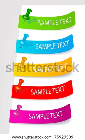 Set with colored stickers. Vector illustration.