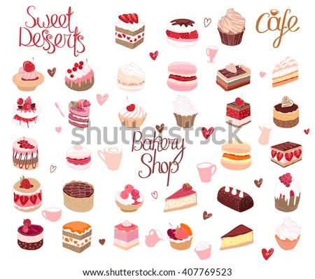 set with different kinds of
