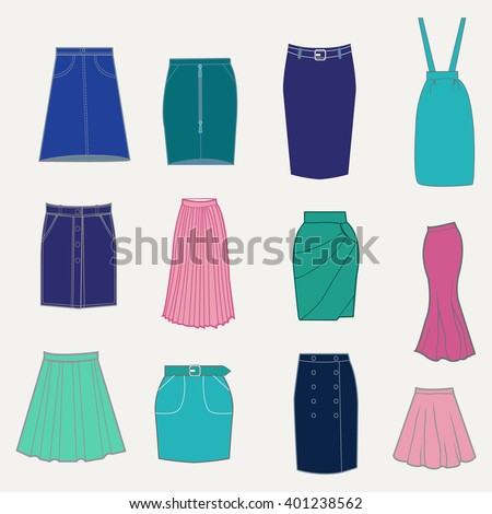 set with different skirts