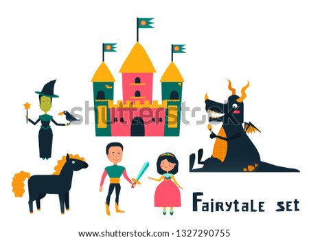 Set with Fairytale characters