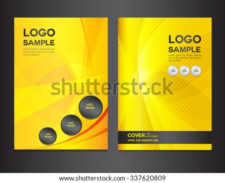 set yellow cover design vector