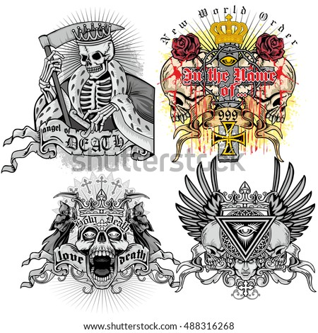 sets of gothic coat of arms