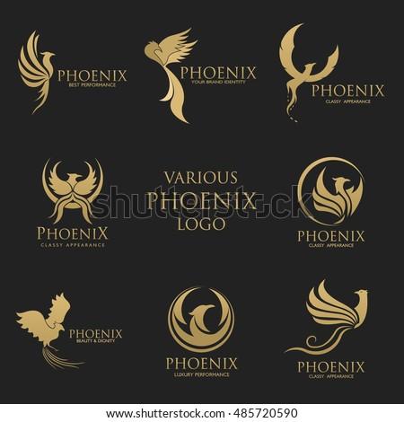 sets of phoenix logo design