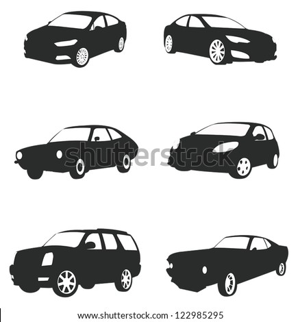 sets of silhouette cars and on