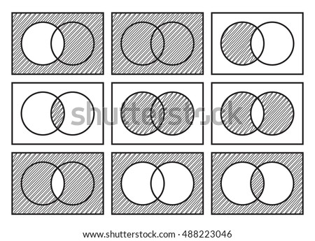 Venn diagram vector download free vector art stock graphics images sets theory basic operations venn diagrams isolated on white background ccuart Choice Image