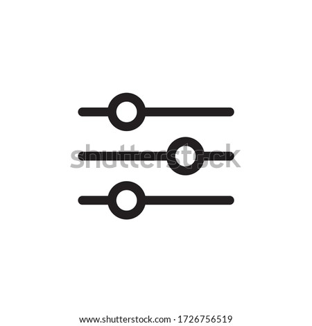 Setting control icon vector isolated Foto stock ©