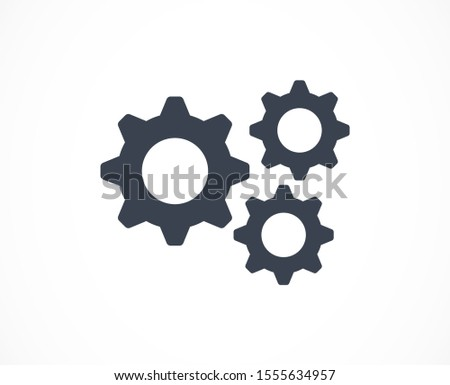 Setting Gear Vector Icon Design Template.Gear vector icon. Setting Gear Vector Icon. Setting Gear Vector Icon cogs symbol. Cog wheels Cogs circle illustration.