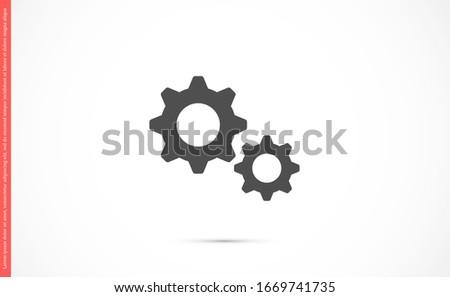 Setting Gear Vector Icon Design Template.Gear vector icon. Setting Gear Vector Icon. Setting Gear Vector Icon cogs symbol. Cog wheels Cogs circle illustration Foto stock ©