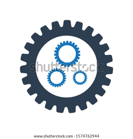 Setting gears icon. Gears icon