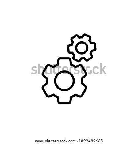 Setting Icon Vector. Cog Settings Icon Symbol