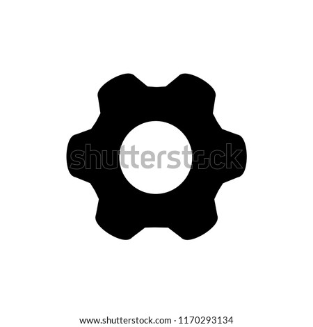 Setting icon vector. Gear or Cog.