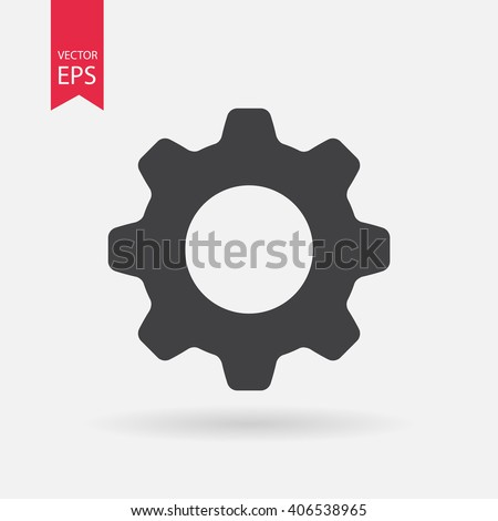 Setting icon vector, Tools, Cog, Gear Sign Isolated on white background. Help options account concept. Trendy Flat style for graphic design, logo, Web site, social media, UI, mobile app, EPS10 Photo stock ©