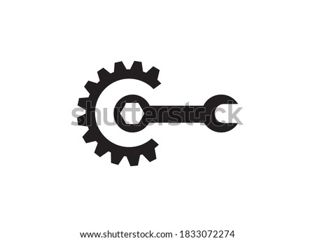 Setting icon vector, Tools, Cog, Gear sign symbol, Setting logo vector, setting symbol, tool symbol Photo stock ©