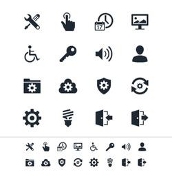 Setting icons