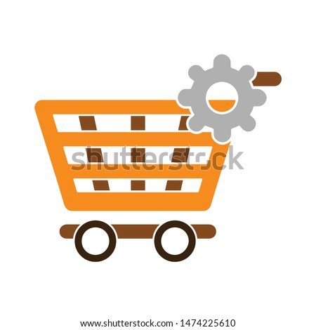 setting product shopping icon. flat illustration of setting product shopping vector icon. setting product shopping sign symbol