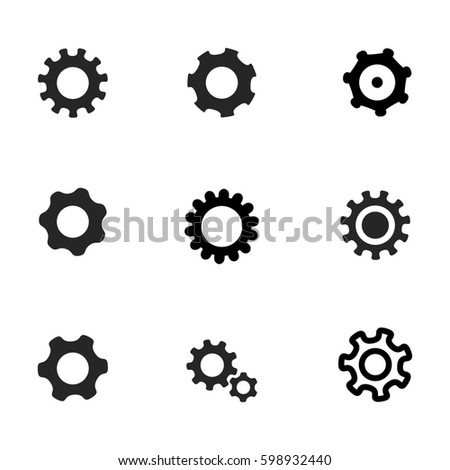Settings and cog vector icons.