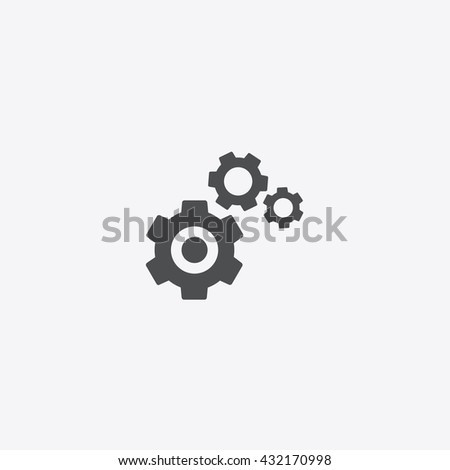 Settings flat vector icon,  element of technical graphic on isolated background