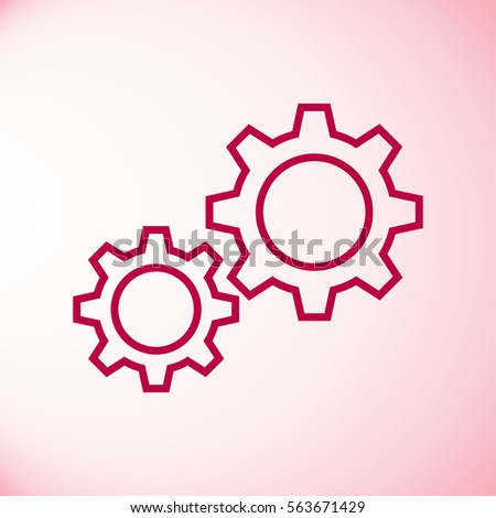 Settings gears (cogs) flat icon