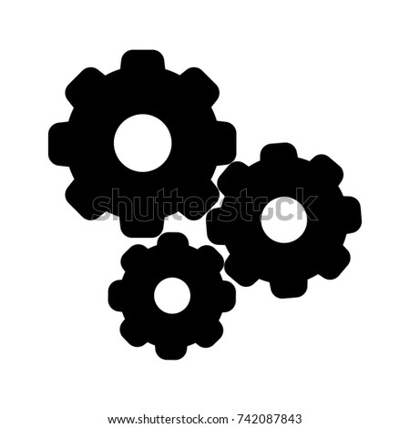 Settings gears icon symbol