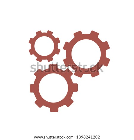 Settings Gears Icon Vector, Gears Icon