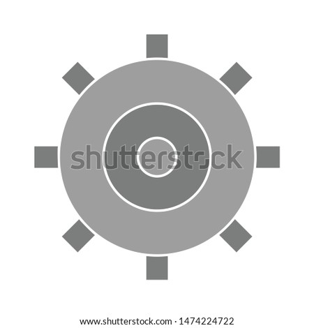 settings icon. flat illustration of settings vector icon. settings sign symbol