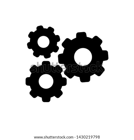 Settings icon, gear icon vector, gear symbol illustration. For web sites our mobile.