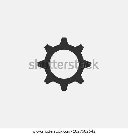 Settings icon illustration isolated vector sign symbol