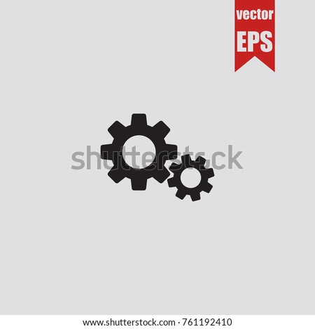 Settings icon in trendy isolated on grey background.Vector illustration.