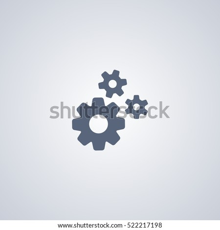 Settings icon, industry icon