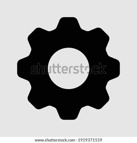 settings icon isolated vector illustration Photo stock ©