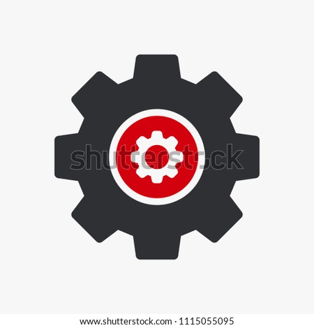 Settings icon, Tools and utensils icon with settings sign. Settings icon and customize, setup, manage, process symbol. Vector illustration