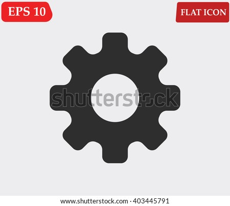Settings icon vector