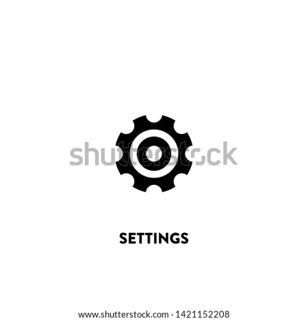 settings icon vector. settings sign on white background. settings icon for web and app